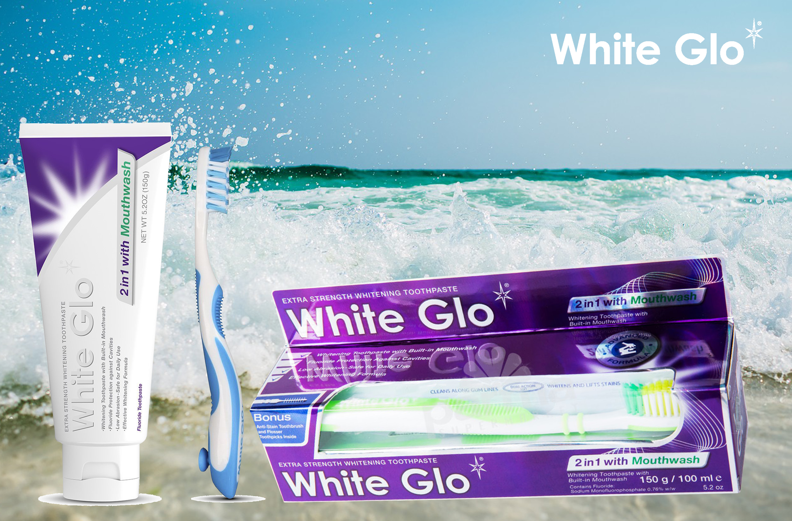 White GLO 2in1 Mouthwash
